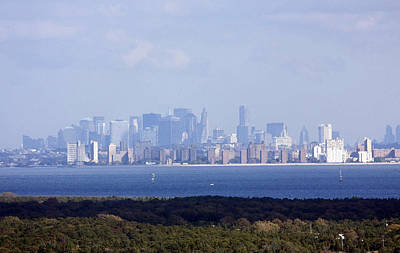 Photograph - Distant Nyc Skyline by Mary Haber