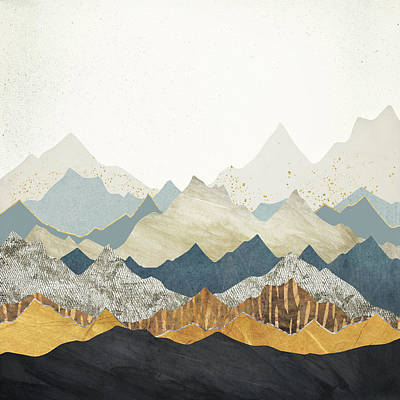 Mountain Royalty-Free and Rights-Managed Images - Distant Peaks by Spacefrog Designs