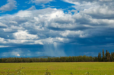 Photograph - Distant Rain - Delta Junction - Alaska by Cathy Mahnke