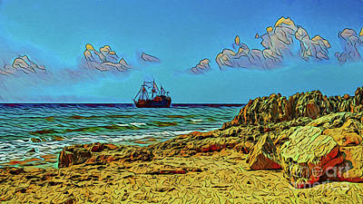Photograph - Distant Ship 17718 by Ray Shrewsberry