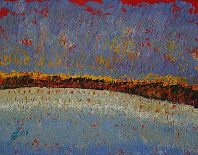 Painting - Distant Shore Original Painting by Sol Luckman