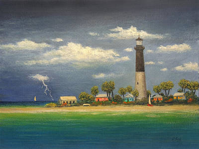Key West Painting - Distant Storm by Gordon Beck