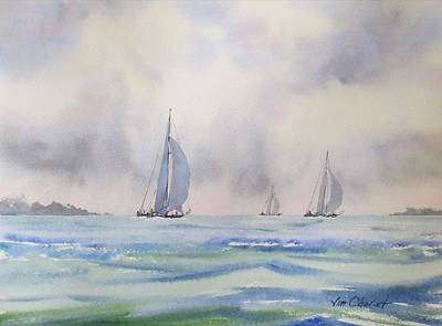 Oberst Painting - Distant Storm by Jim Oberst