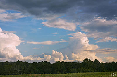 Photograph - Distant Storms Rising by Ally White