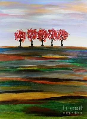 Painting - Distant Trees by Carolyn Weir
