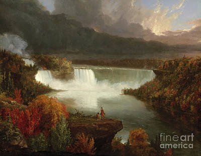 Distant Painting - Distant View Of Niagara Falls by Thomas Cole