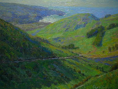 Painting - Distant View To Allens Beach by Terry Perham