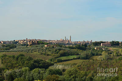Distant Views Of Siena In Italy Art Print by DejaVu Designs