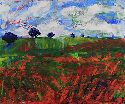 Painting - Distant Vineyards by Walter Fahmy