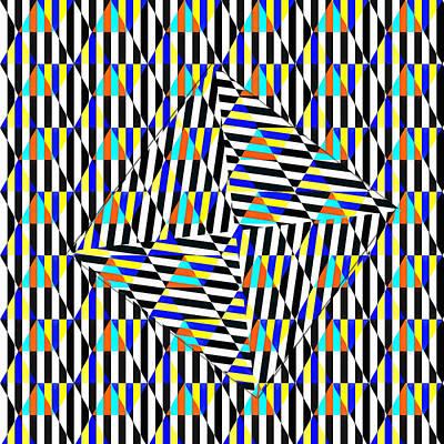 Digital Art - Distinctive Illusion by Mario Carini