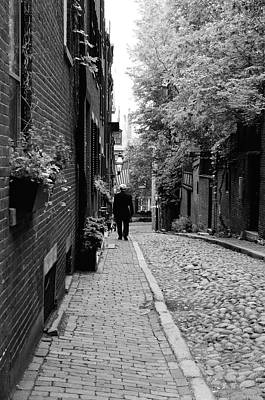 Photograph - Distinguished Gentleman On Acorn Street by Corinne Rhode