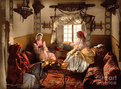Painting - Distinguished Moorish Women by Celestial Images