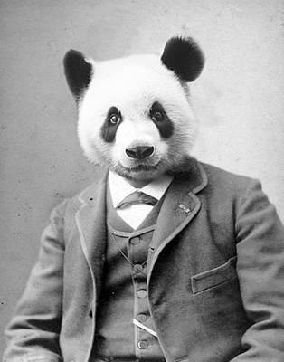 Libertas Digital Art - Distinguished Panda by Kelly Williams