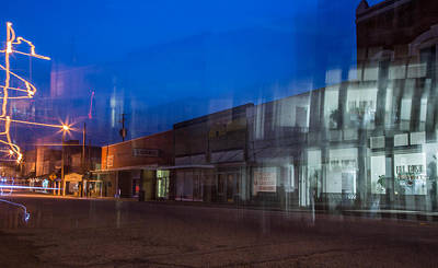Photograph - Distorted East Houston Avenue Crockett Texas by Micah Goff