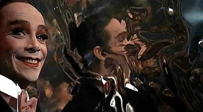 Staff Picks Cortney Herron - Distorted Reflection of Joel Gray Cabaret 1972 color added 2016 by David Lee Guss