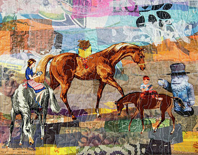 Mixed Media - Distracted Riding by Martha Ressler