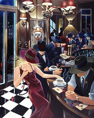 Painting - Distraction by Victor Ostrovsky