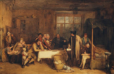Painting - Distraining For Rent by David Wilkie