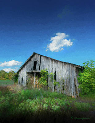 Remote Digital Art - Distress Barn by Marvin Spates
