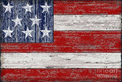 Patriotic Painting - Distressed American Flag by Paul Brent