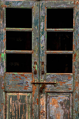Distressed Doors Art Print