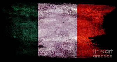 Vintage Eiffel Tower Photograph - Distressed Flag Of Ireland by Jon Neidert