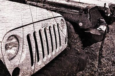 Distressed Jeep Wrangler Jk Art Print