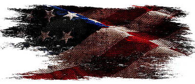Bennington Photograph - Distressed Old Glory Wide by Jon Neidert