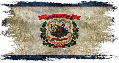 Old West Photograph - Distressed West Virginia Flag by Jon Neidert