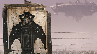 Buildings Digital Art - District 9 by Maye Loeser