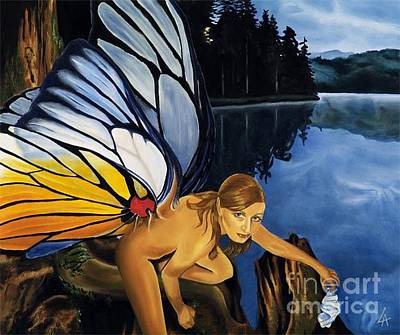 Painting - Disturbed Faery by Linda Laforge