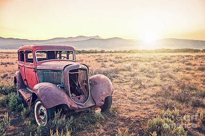 Antique Car Photograph - Disused by Delphimages Photo Creations