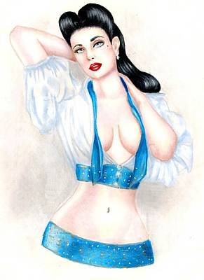 Dita Art Print by Scarlett Royal