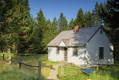 Photograph - Ditch Creek Guard Station Cabin by Kunal Mehra