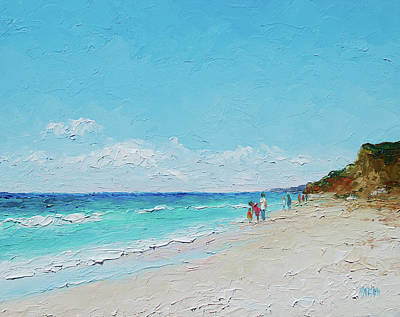 Hamptons Painting - Ditch Plains Beach Montauk Hamptons Ny by Jan Matson
