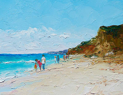 Ditch Plains Beach Montauk Hamptons  Art Print by Jan Matson