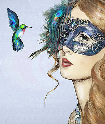 Digital Art - Diva And Hummingbird by Jane Schnetlage