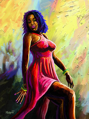 Painting - Diva by Anthony Mwangi