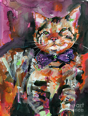 Diva Cat With Bow And Attitude Art Print