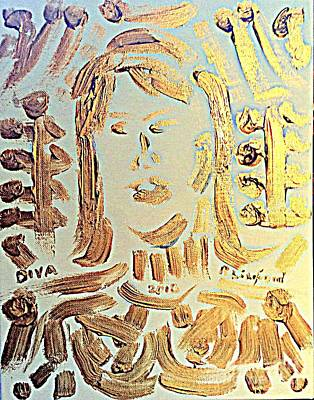 Painting - Diva Gold by Richard W Linford
