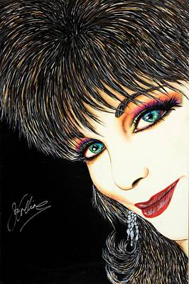 Autograph Mixed Media - Diva Nasty by Joseph Lawrence Vasile