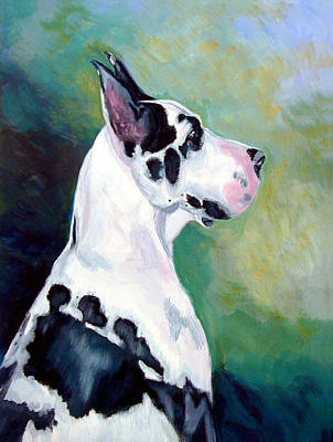 Diva The Great Dane Art Print by Lyn Cook