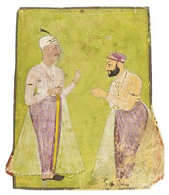 Divan Munir-al-mulk Offering Respect To Nizam Ali Khan Asaf Jah II Art Print by Celestial Images