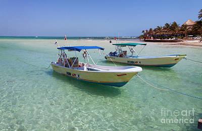 Dive Boats On Isla Mujeres II Art Print