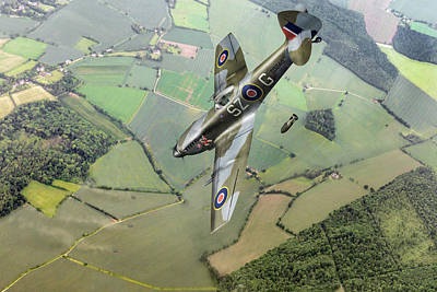 Photograph - Dive Bombing Spitfire by Gary Eason