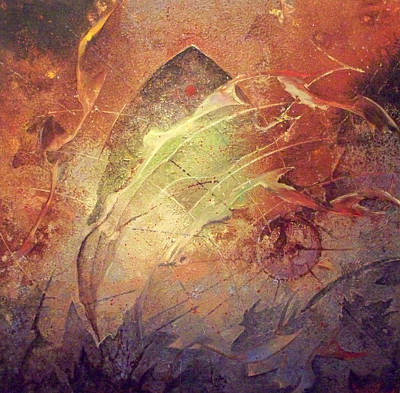 Dive Art Print by Fred Wellner