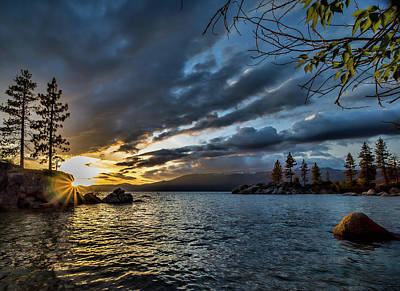 Photograph - Diver's Cove At Sunset by Martin Gollery