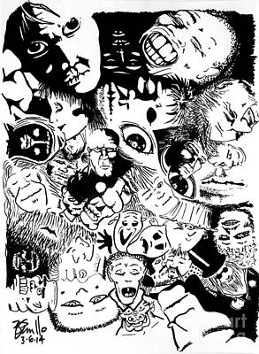 Twilight Zone Drawing - Diversity by Andrew Cravello
