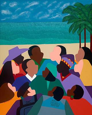 Painting - Diversity In Cannes by Synthia SAINT JAMES