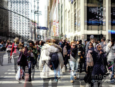 Photograph - Diversity In The City Double Exposure by John Rizzuto